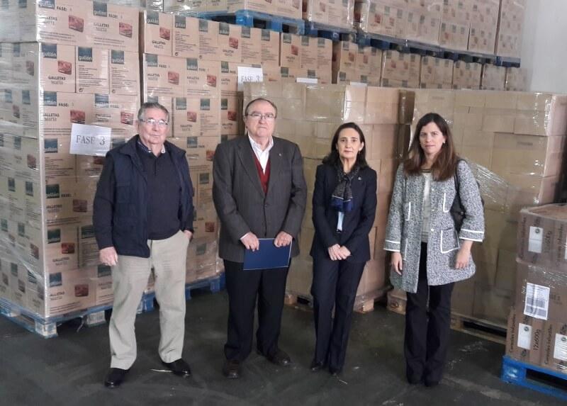 La subdelegada del Gobierno visita las instalaciones del Banco de Alimentos de Huelva