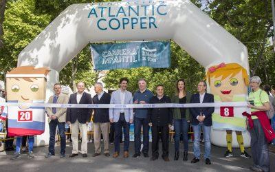 La Fundación Atlantic Copper recauda más de 1.600 kilos de alimentos en la carrera 'kilos x km' para el Banco de Alimentos y Cruz Roja