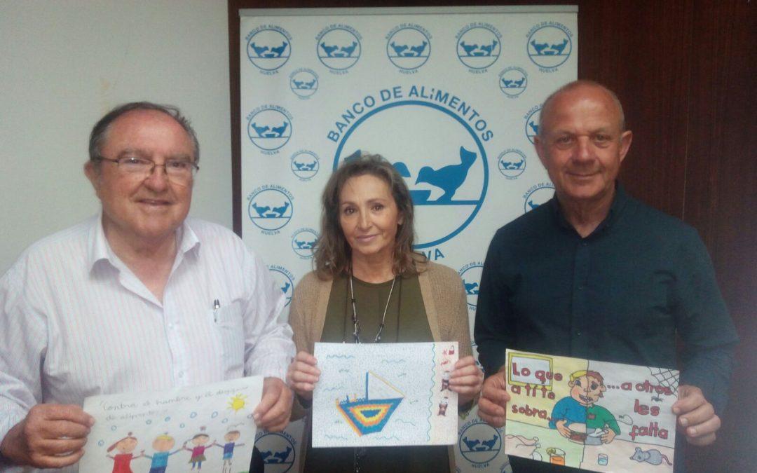 Tres alumnos de colegios onubenses participarán en el certamen nacional de dibujo organizado por la Federación Española de Bancos de Alimentos