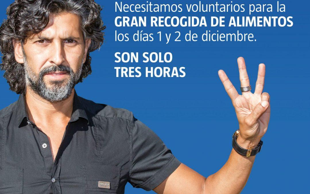 El Banco de Alimentos de Huelva pone en marcha la campaña '#Sonsolotreshoras' para captar voluntarios para su Gran Recogida