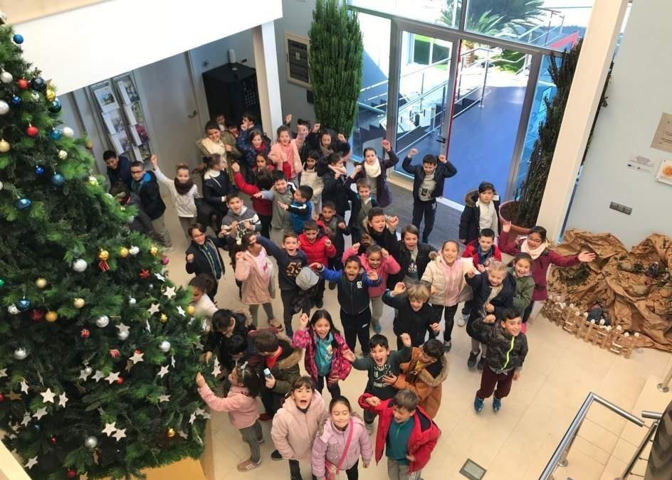 La comunidad de regantes de Palos inaugura el 'Árbol de los deseos' a beneficio del Banco de Alimentos