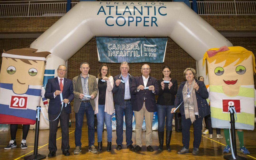 Más de 1.100 kilos de alimentos recaudados por la 6ª Carrera Infantil 'Kilos x Km' de la Fundación Atlantic Copper