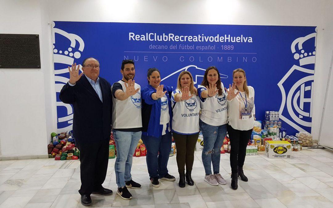 El Banco de Alimentos agradece al Recre y a los onubenses su solidaridad ante el partido contra el Córdoba B