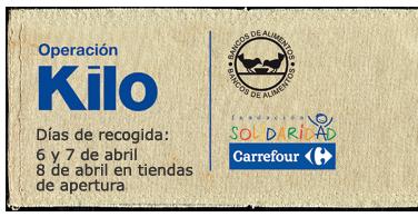 Jornada nacional de recogida de alimentos en Hipermercados Carrefour con la 'Operación Kilo'