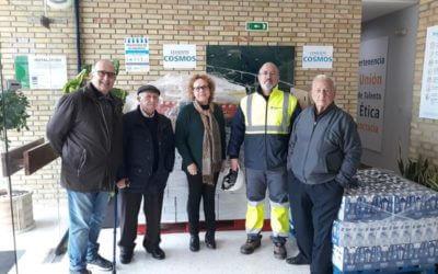 Cementos Cosmos de Niebla dona 1.800 kilos de comida al Banco de Alimentos de Huelva