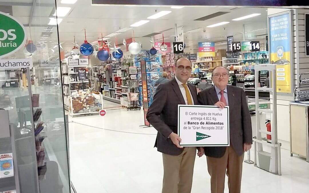 El Corte Inglés entrega al Banco de Alimentos más de 4.800 kilos en la campaña 'Gran Recogida 2018'