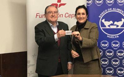 La Fundación Cepsa dona tarjetas de carburante al Banco de Alimentos de Huelva
