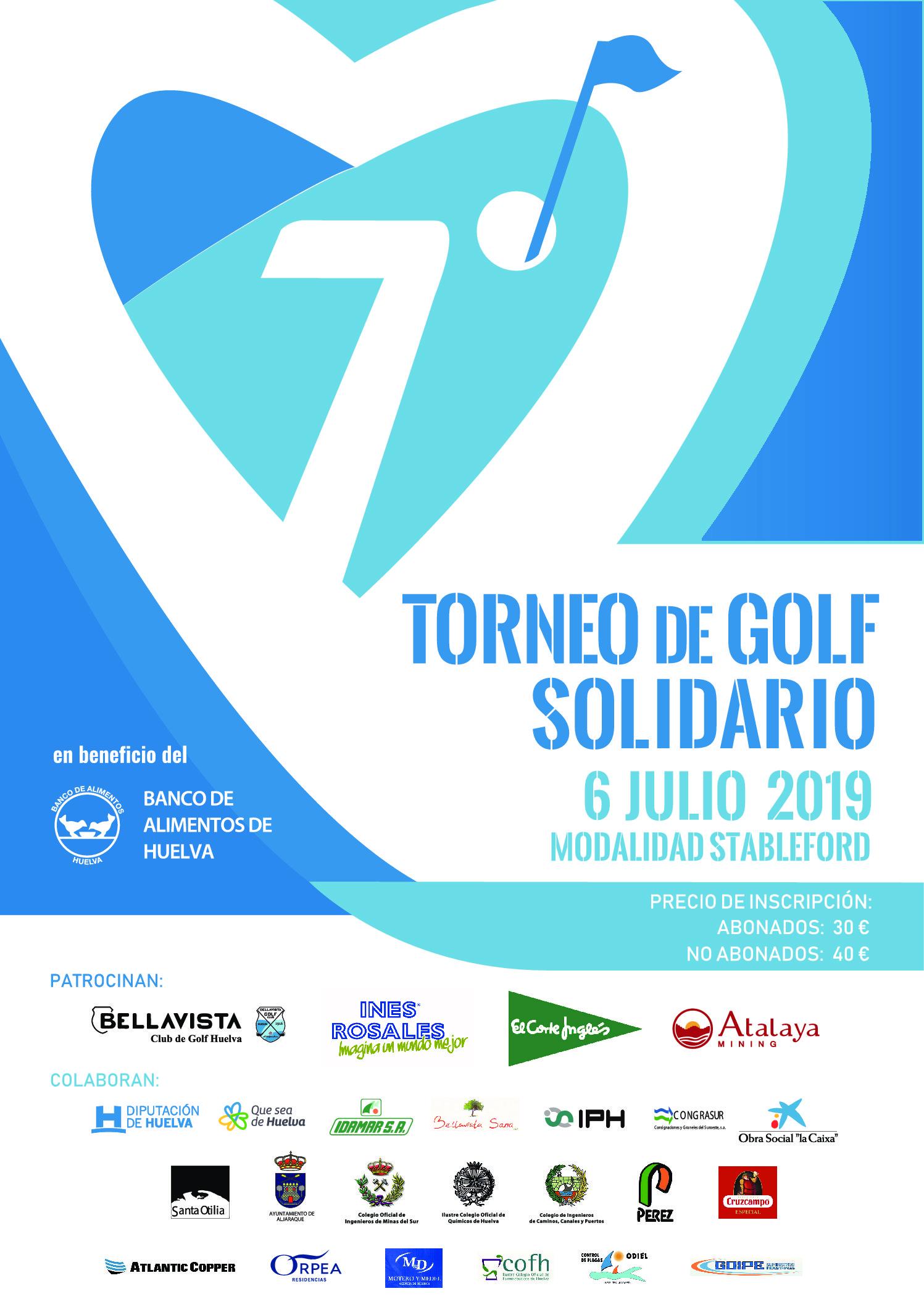 El Club de Golf de Bellavista acoge el VII Torneo de Golf a beneficio del Banco de Alimentos de Huelva