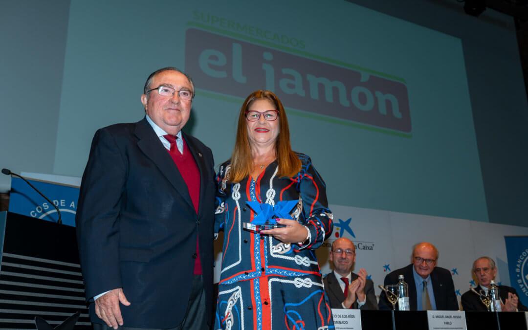 Cash Lepe – Supermercados El Jamón recibe el reconocimiento de los Bancos de Alimentos en los Premios Espiga 2019 de la Fesbal