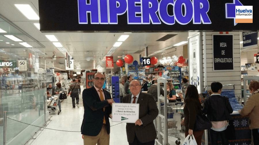 El Corte Inglés de Huelva hace entrega al Banco de Alimentos de 4.453 kilos