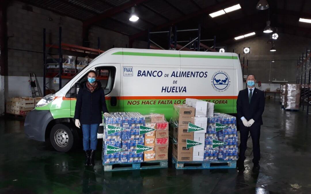 El Corte Inglés dona 1.000 kilos de alimentos básicos al Banco de Alimentos de Huelva