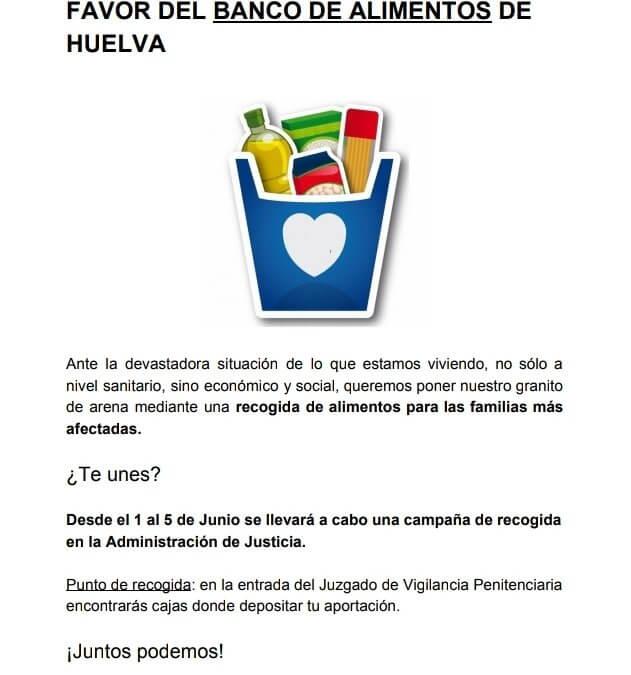 Los trabajadores de Justicia organizan una recogida de alimentos a beneficio del BAH