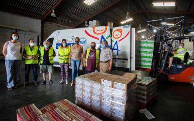 La Autoridad Portuaria de Huelva colabora en la donación de 3.000 kilos de alimentos al BAH