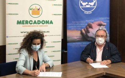 El Banco de Alimentos de Huelva renueva su convenio de colaboración con Mercadona