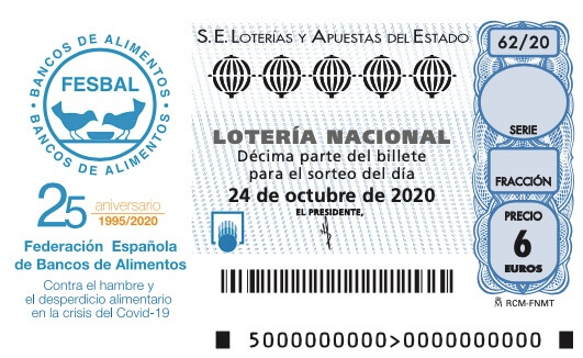Sorteo solidario de la Lotería Nacional con los Bancos de Alimentos