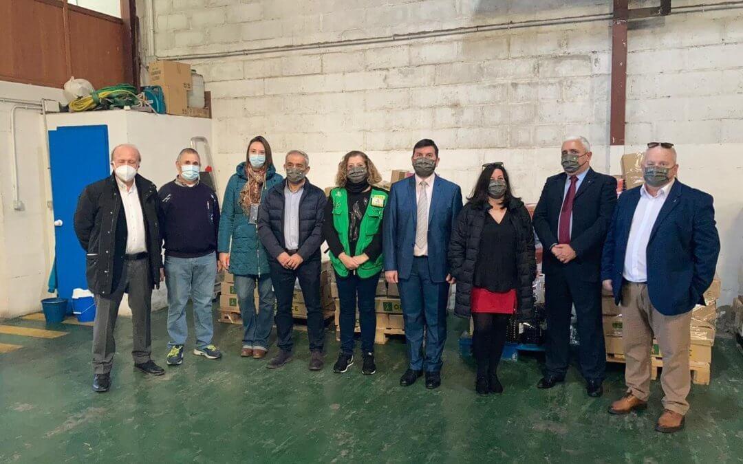 Lo ONCE dona 1.760 kilos de alimentos contra la pandemia al Banco de Alimentos de Huelva