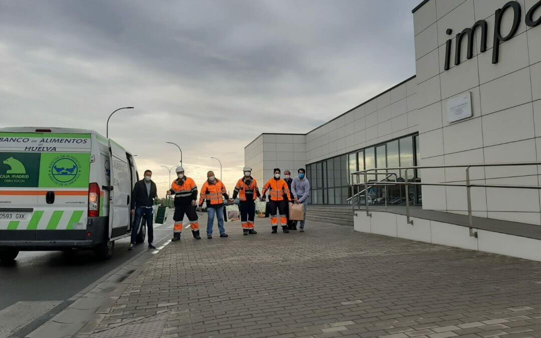 El Banco de Alimentos de Huelva recibe una importante donación de los empleados de Impala Terminals Huelva y de la Fundación Trafigura
