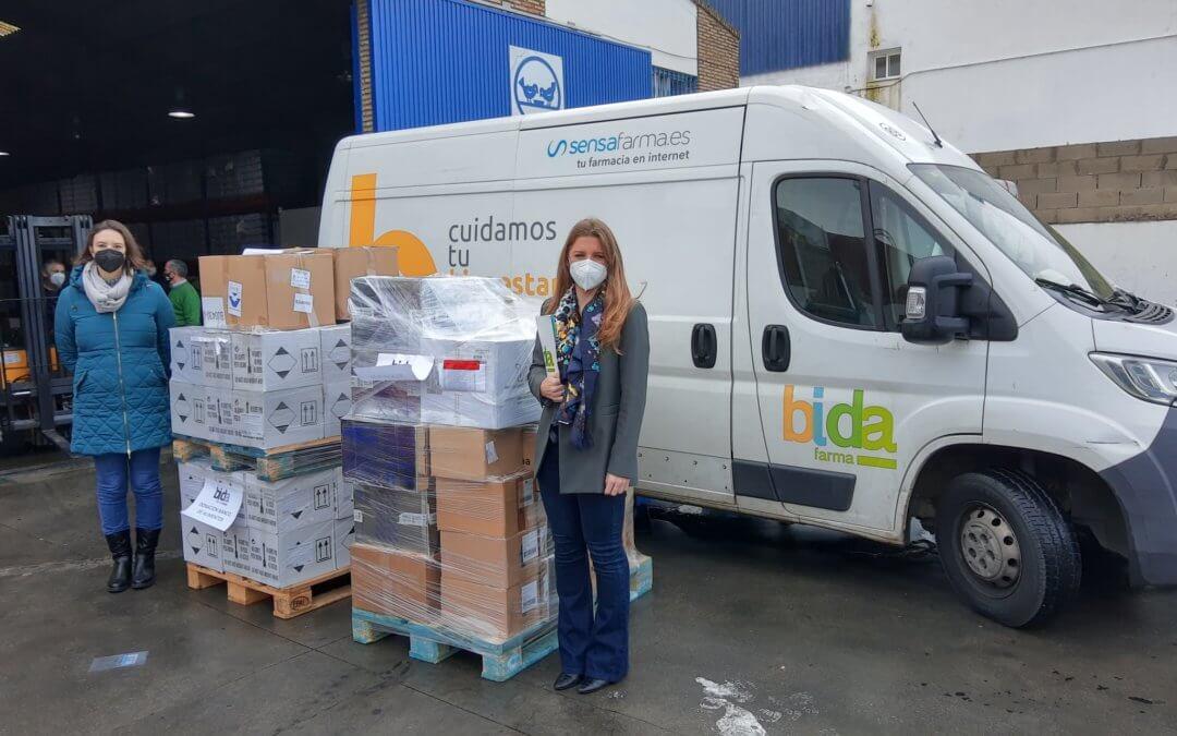 Bidafarma dona más de 4.500 productos sanitarios y de baño al Banco de Alimentos de Huelva