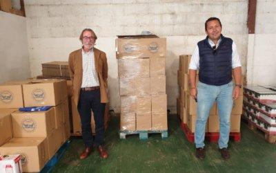 La 'Carreta Solidaria' de la Hermandad Emigrantes recoge 1.530 kilos para el Banco de Alimentos de Huelva