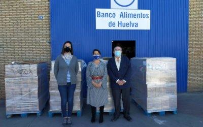 El Instituto Español dona más de 2.000 kilos de productos de higiene al Banco de Alimentos de Huelva