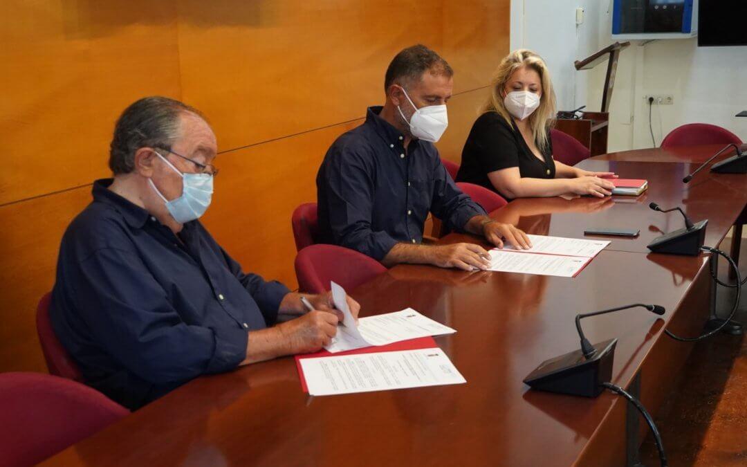 El Ayuntamiento de Moguer renueva su compromiso con el Banco de Alimentos doblando su aportación